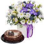 Композиция «Облака» с тортом